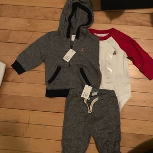 NWT Baby Gap Baby Boys Hoodie Sweats Outfit 3-6 mo